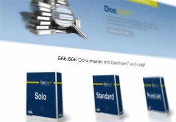 Eilmeldung:  666.666 Dokumente  mit DocFarm® archiviert!